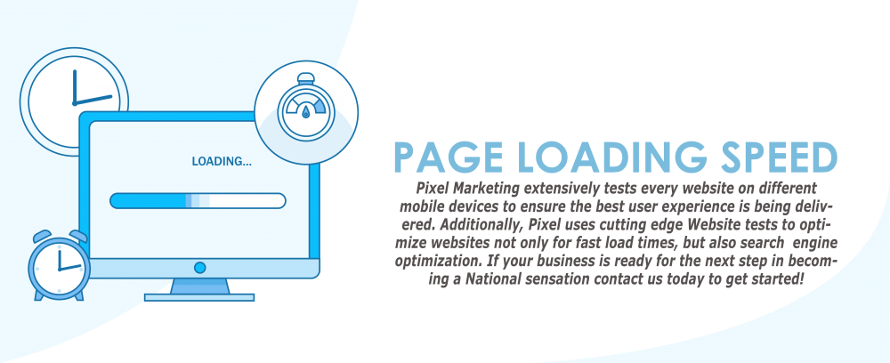 Pixel Marketing Solutions Website Speed Loading ensured